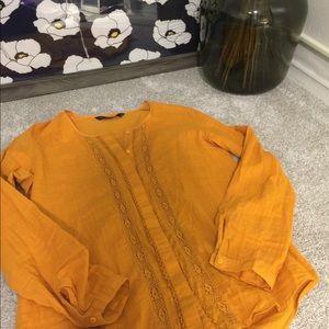 Mustard colored Zara top